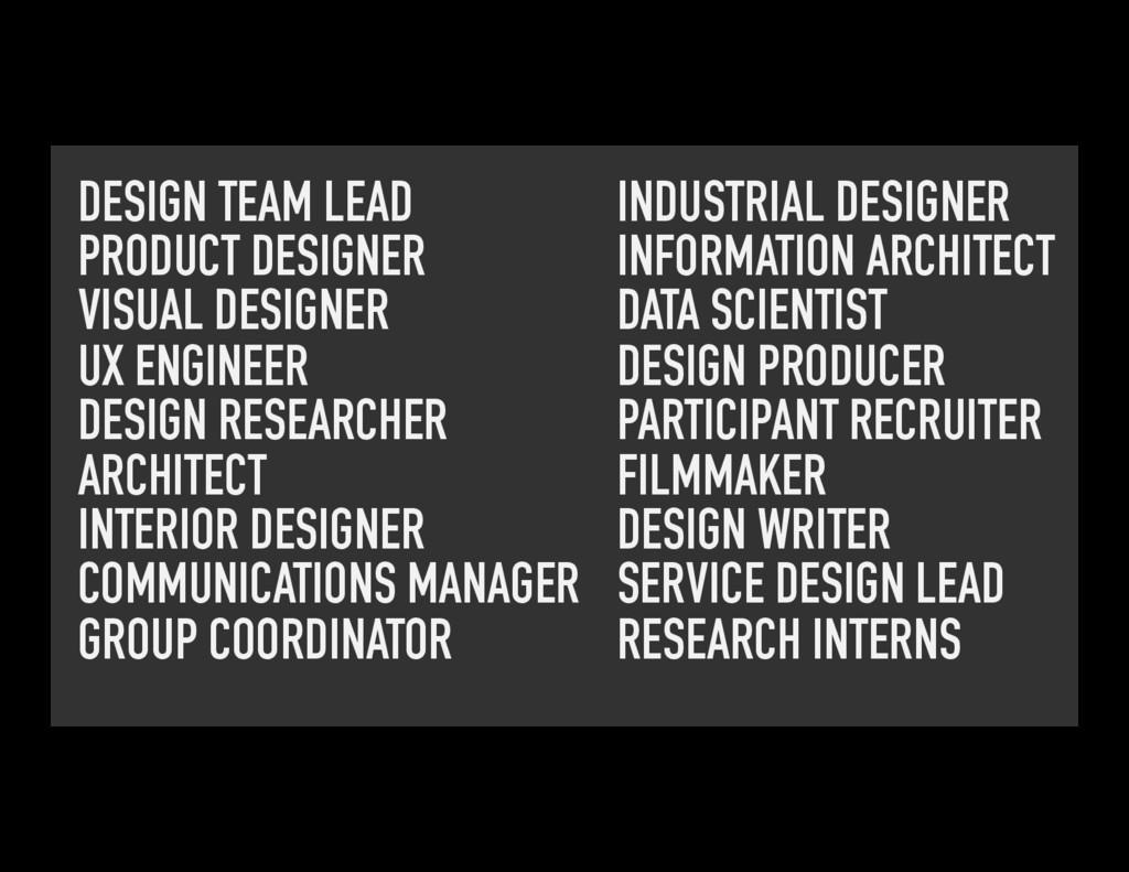DESIGN TEAM LEAD PRODUCT DESIGNER VISUAL DESIGN...