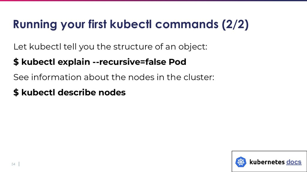 54 Let kubectl tell you the structure of an obj...