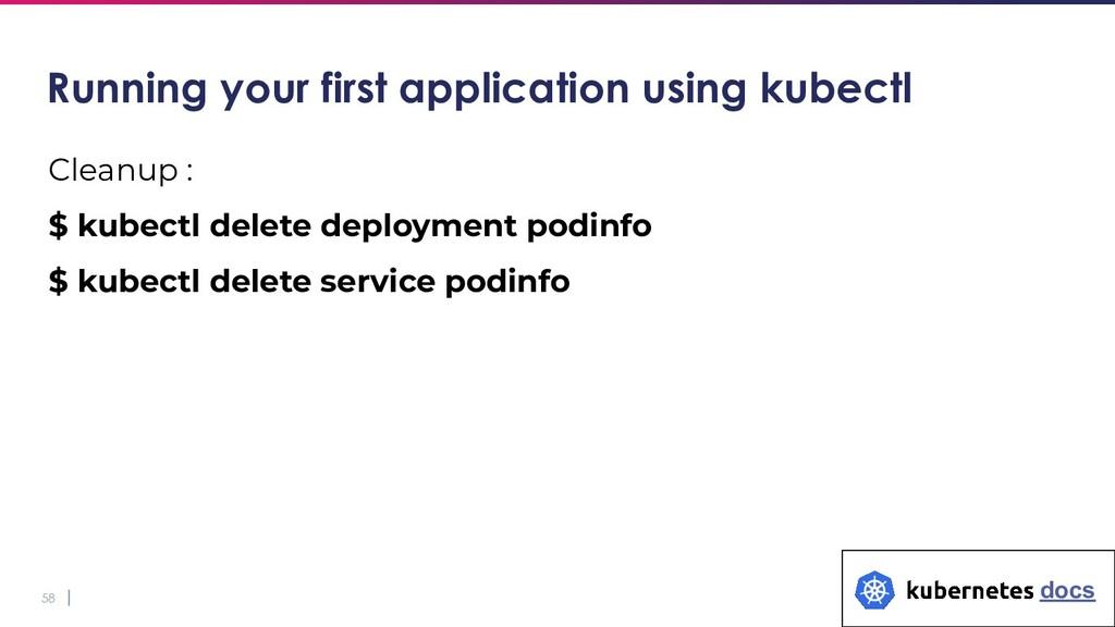 58 Cleanup : $ kubectl delete deployment podinf...