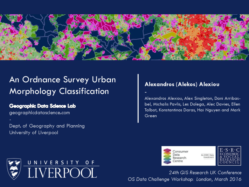 An Ordnance Survey Urban Morphology Classificat...