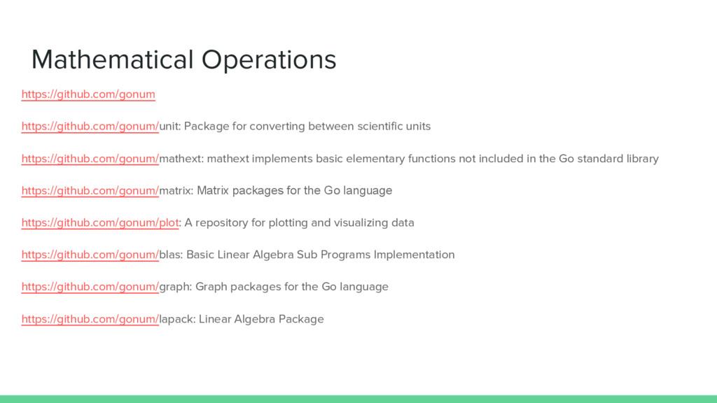 Mathematical Operations https://github.com/gonu...