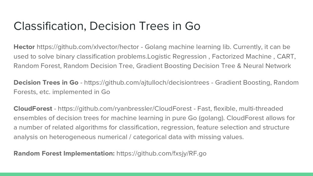 Classification, Decision Trees in Go Hector htt...