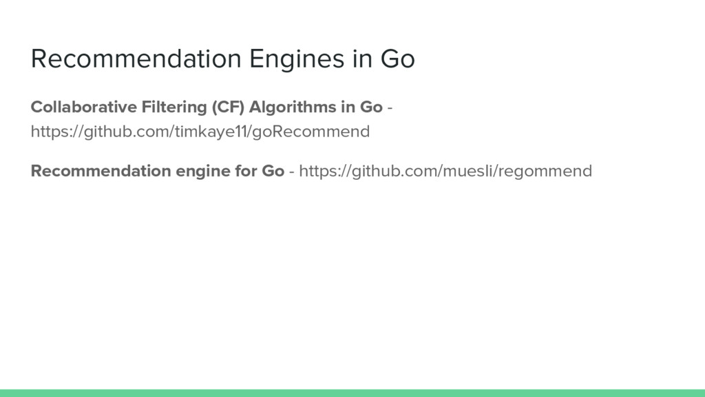 Recommendation Engines in Go Collaborative Filt...