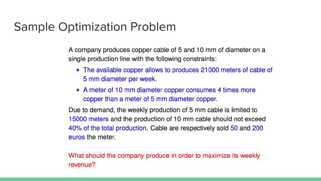 Sample Optimization Problem
