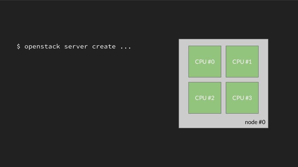 node #0 CPU #0 CPU #1 CPU #2 CPU #3 $ openstack...