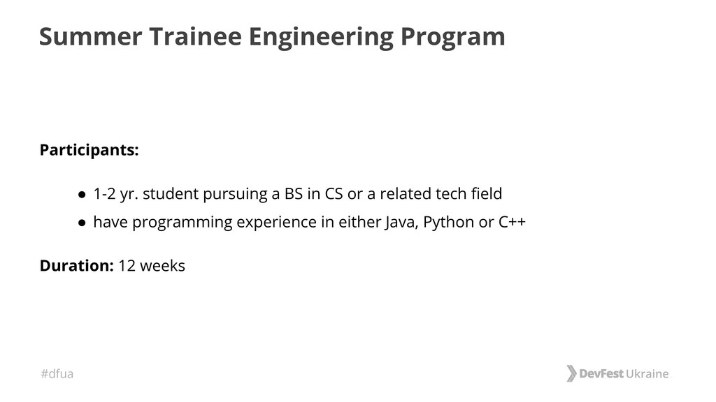 #dfua Summer Trainee Engineering Program Partic...