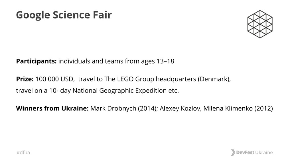 #dfua Google Science Fair Participants: individ...