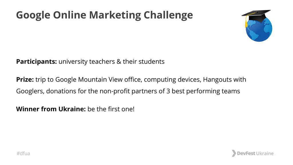 #dfua Google Online Marketing Challenge Partici...