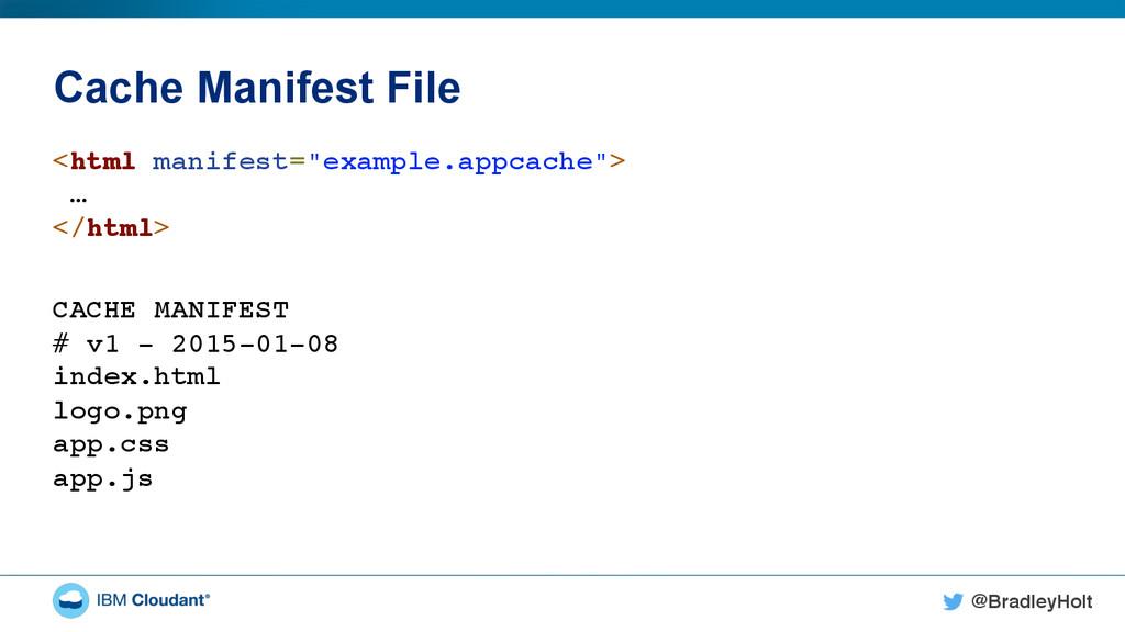 @BradleyHolt! Cache Manifest File <html manifes...