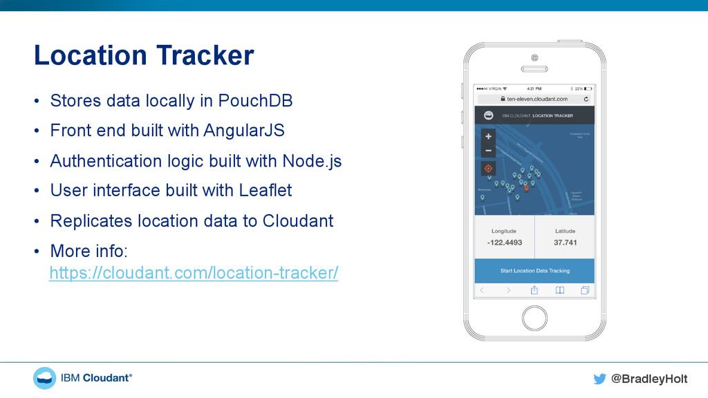 @BradleyHolt! Location Tracker • Stores data l...