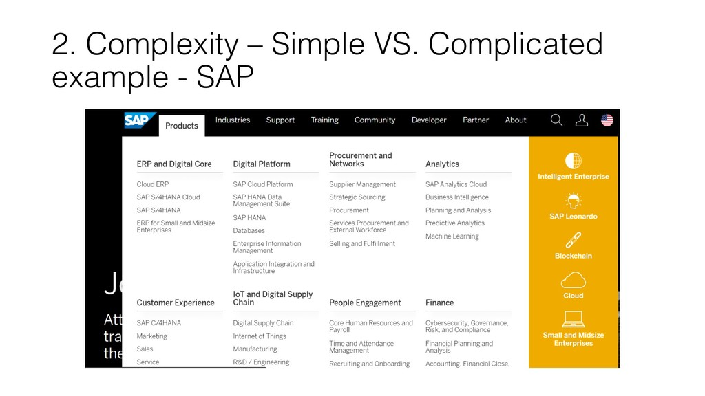 2. Complexity – Simple VS. Complicated example ...