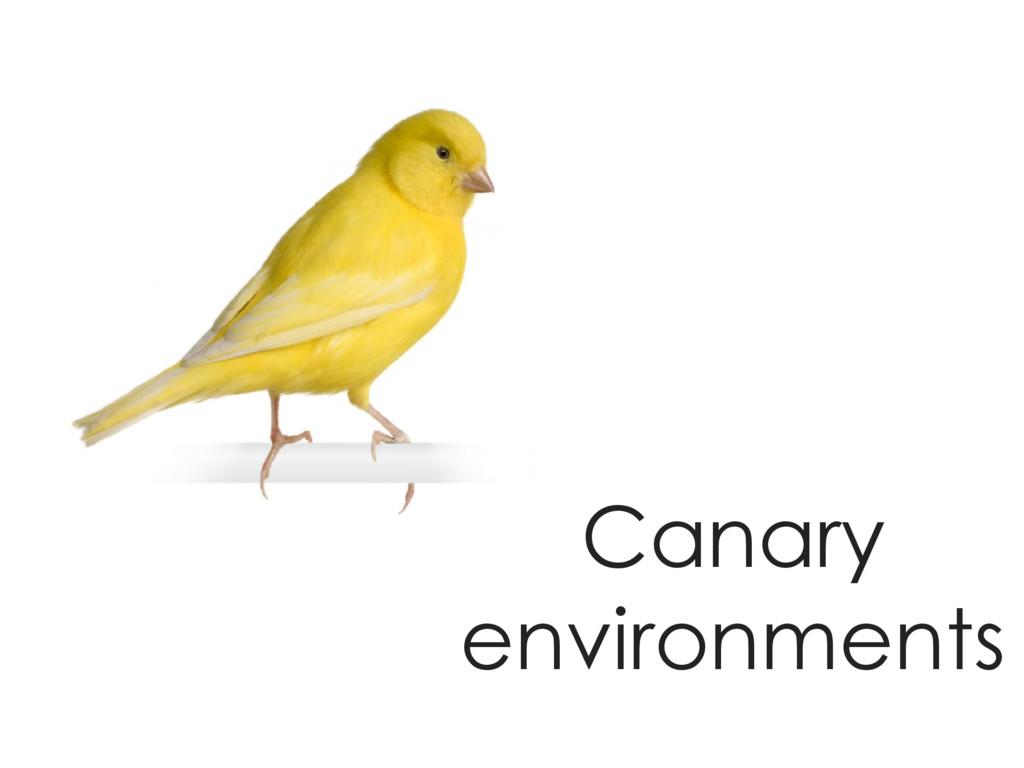 Canary environments