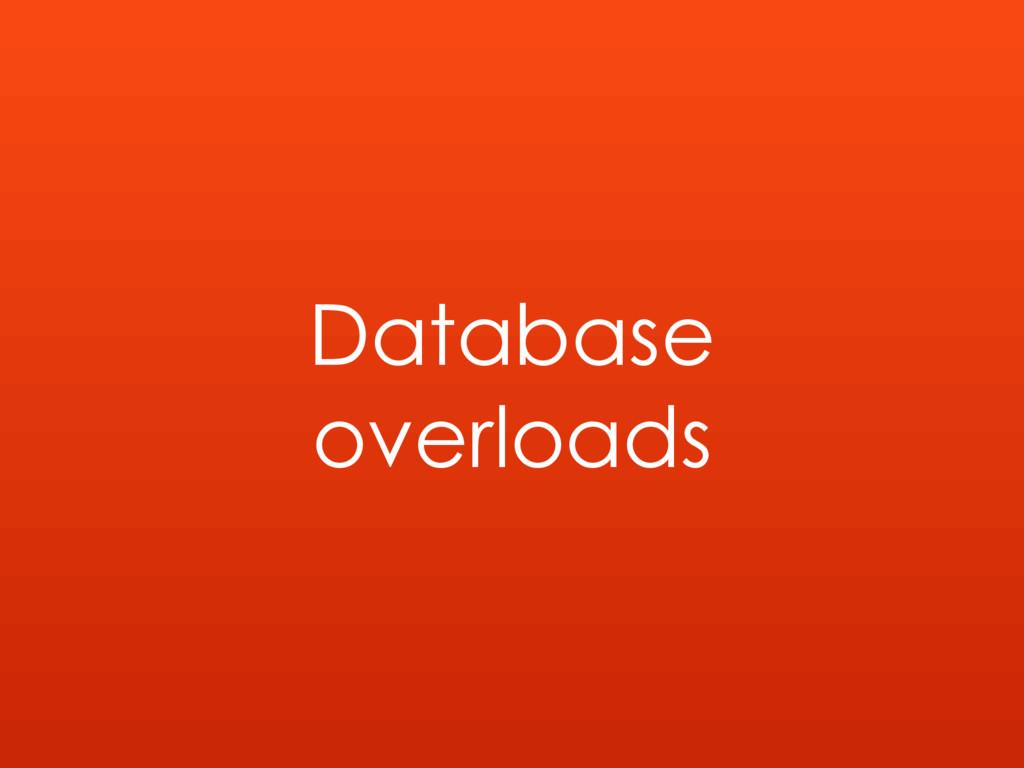 Database overloads