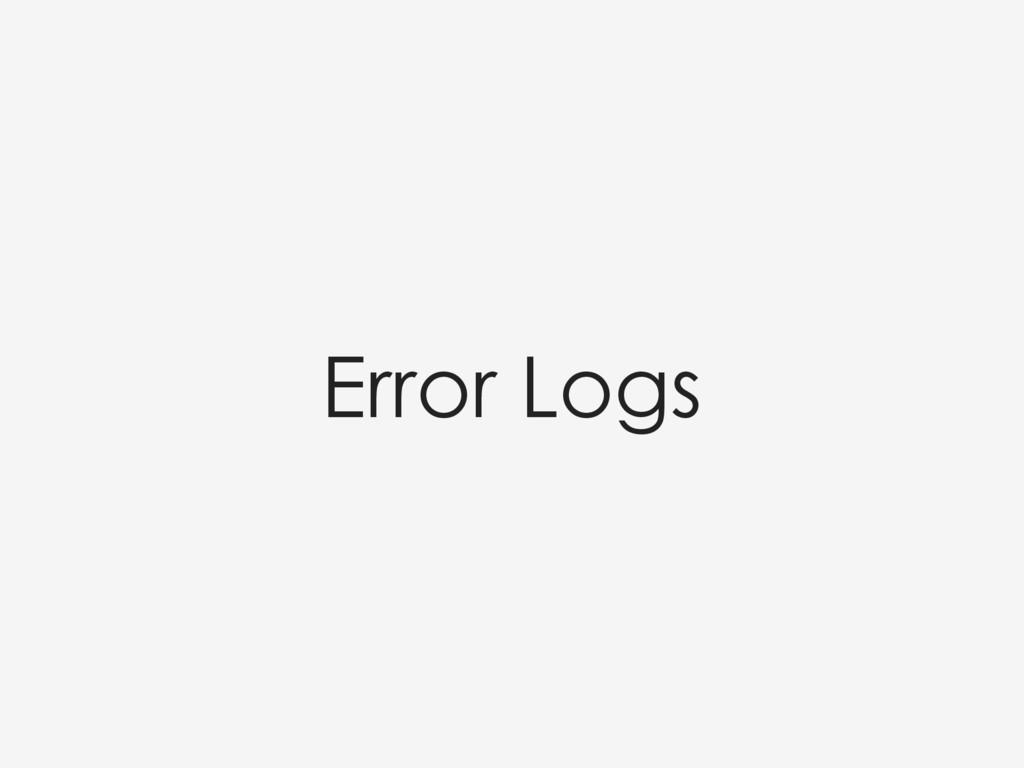 Error Logs
