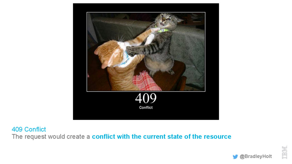 409 Conflict The request would create a conflic...