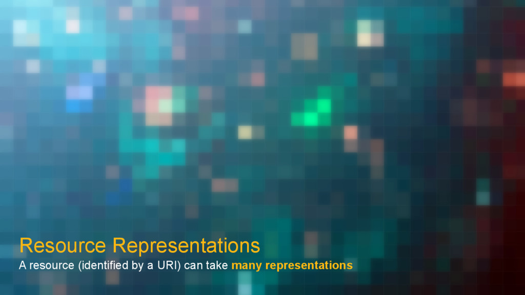 Resource Representations A resource (identified...
