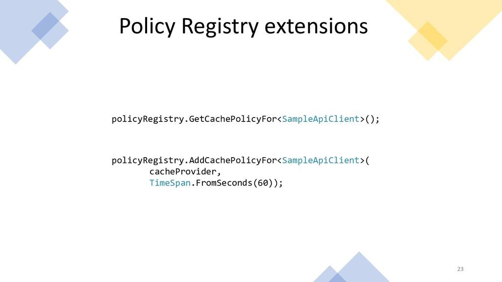 Policy Registry extensions policyRegistry.GetCa...