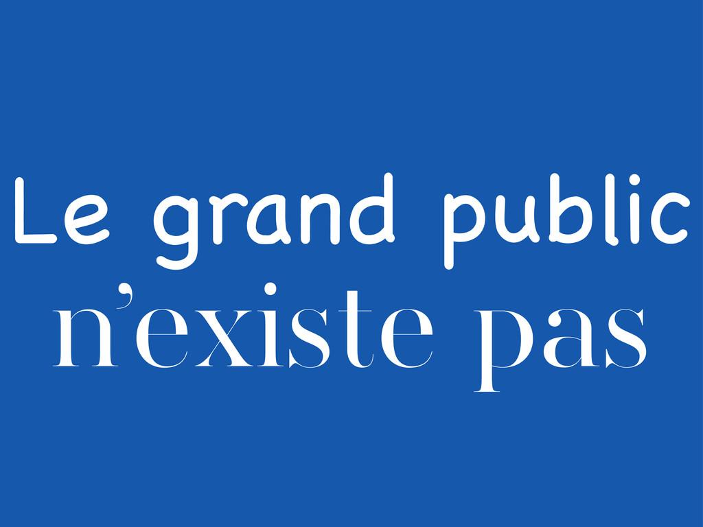Le grand public n'existe pas