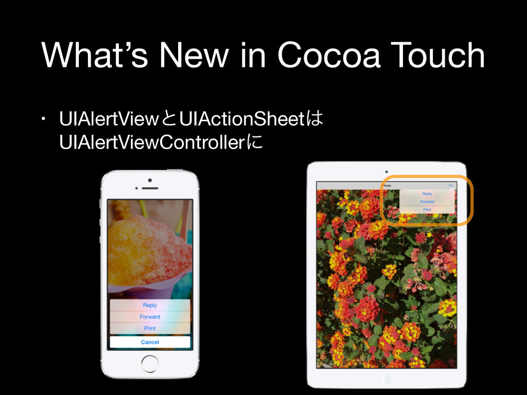 What's New in Cocoa Touch • UIAlertViewͱUIActio...