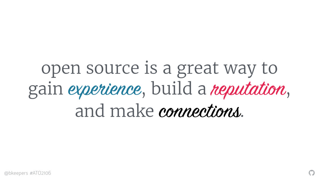 """ @bkeepers #ATO2106 open source is a great way..."