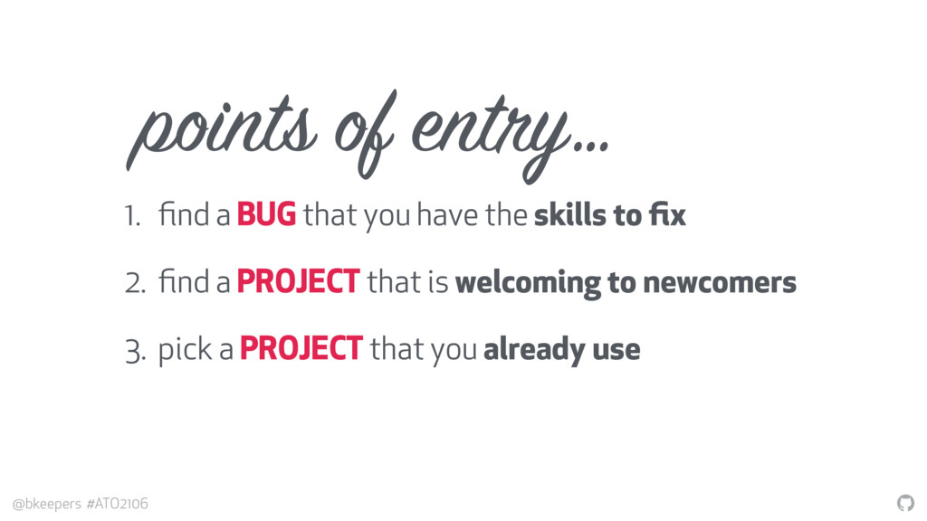 """"""" @bkeepers #ATO2106 points of entry… 1. find a ..."""