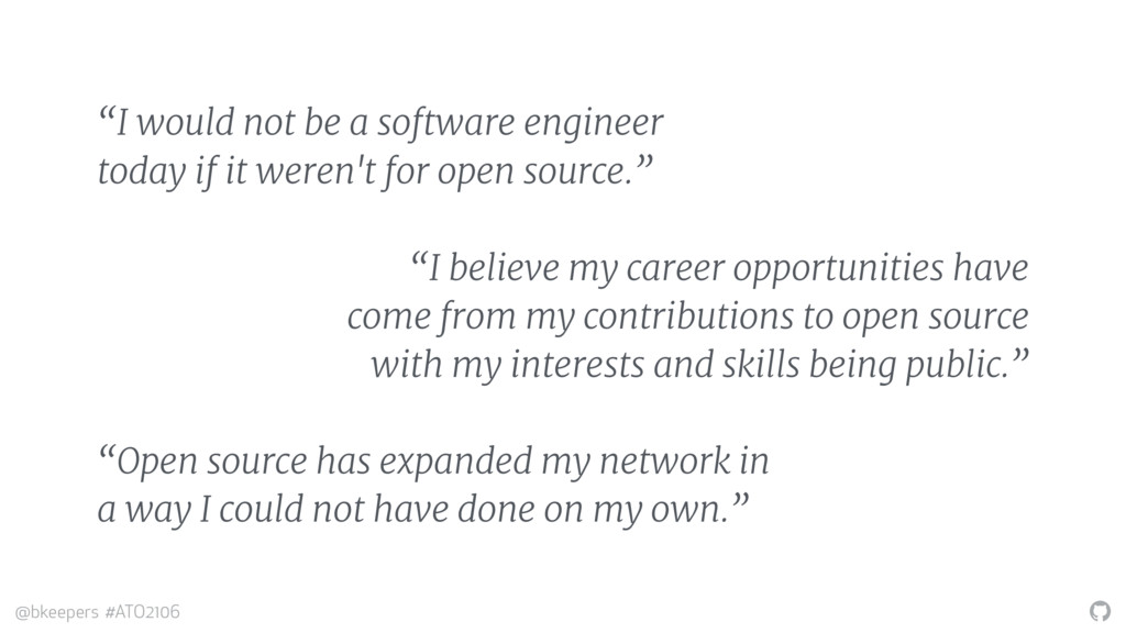 """ @bkeepers #ATO2106 ""I would not be a software..."