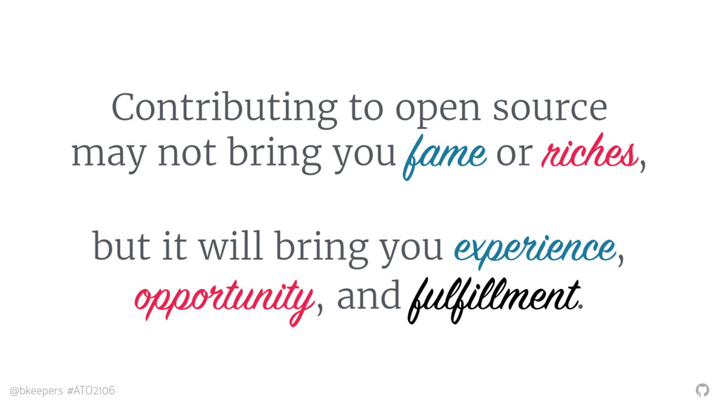 """"""" @bkeepers #ATO2106 Contributing to open sourc..."""
