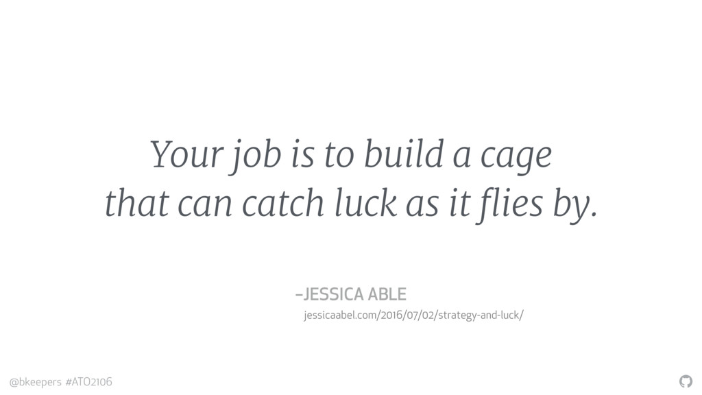""" @bkeepers #ATO2106 Your job is to build a cag..."