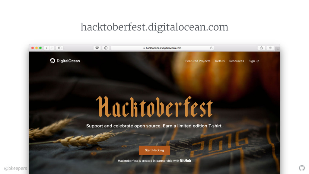 """ @bkeepers #ATO2106 hacktoberfest.digitalocean..."