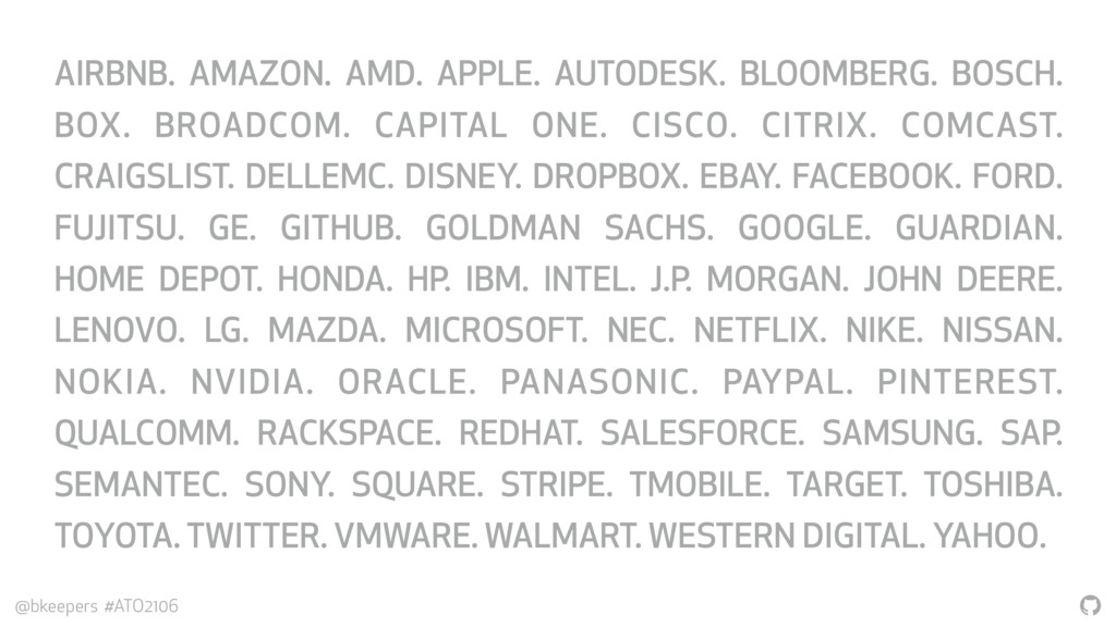 """"""" @bkeepers #ATO2106 AIRBNB. AMAZON. AMD. APPLE..."""