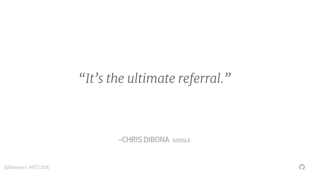 """"""" @bkeepers #ATO2106 """"It's the ultimate referra..."""