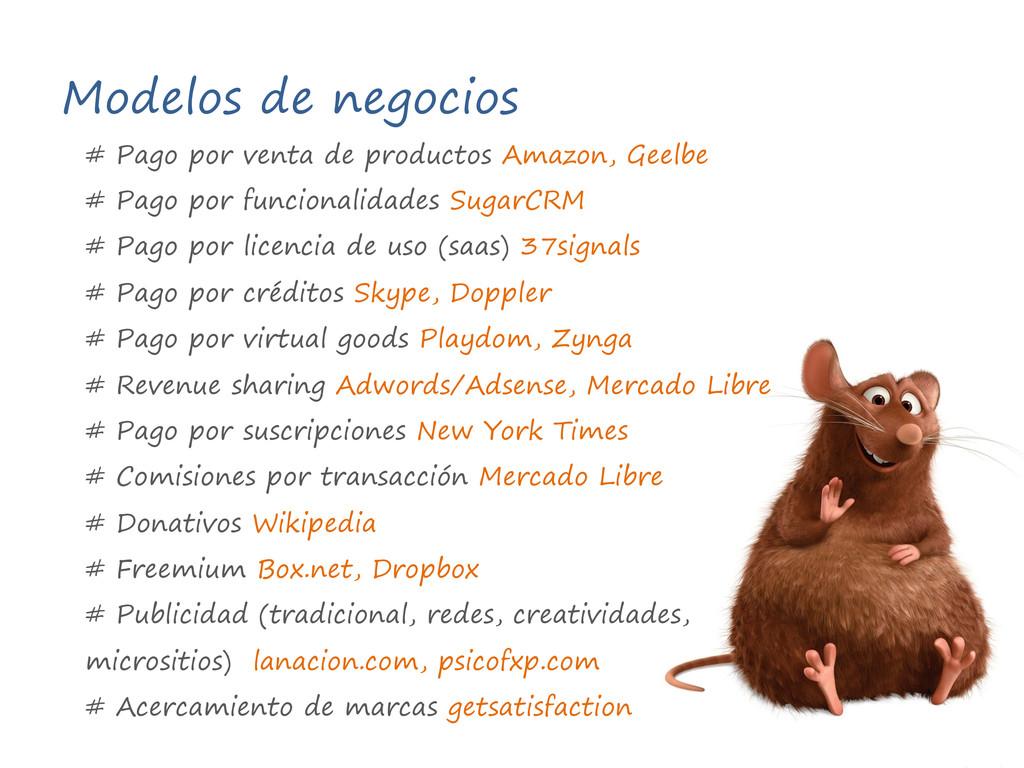 Modelos de negocios # Pago por venta de product...