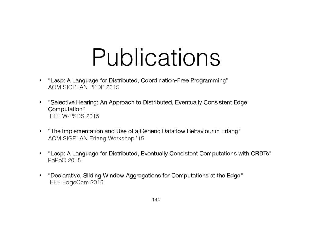"""Publications • """"Lasp: A Language for Distribute..."""