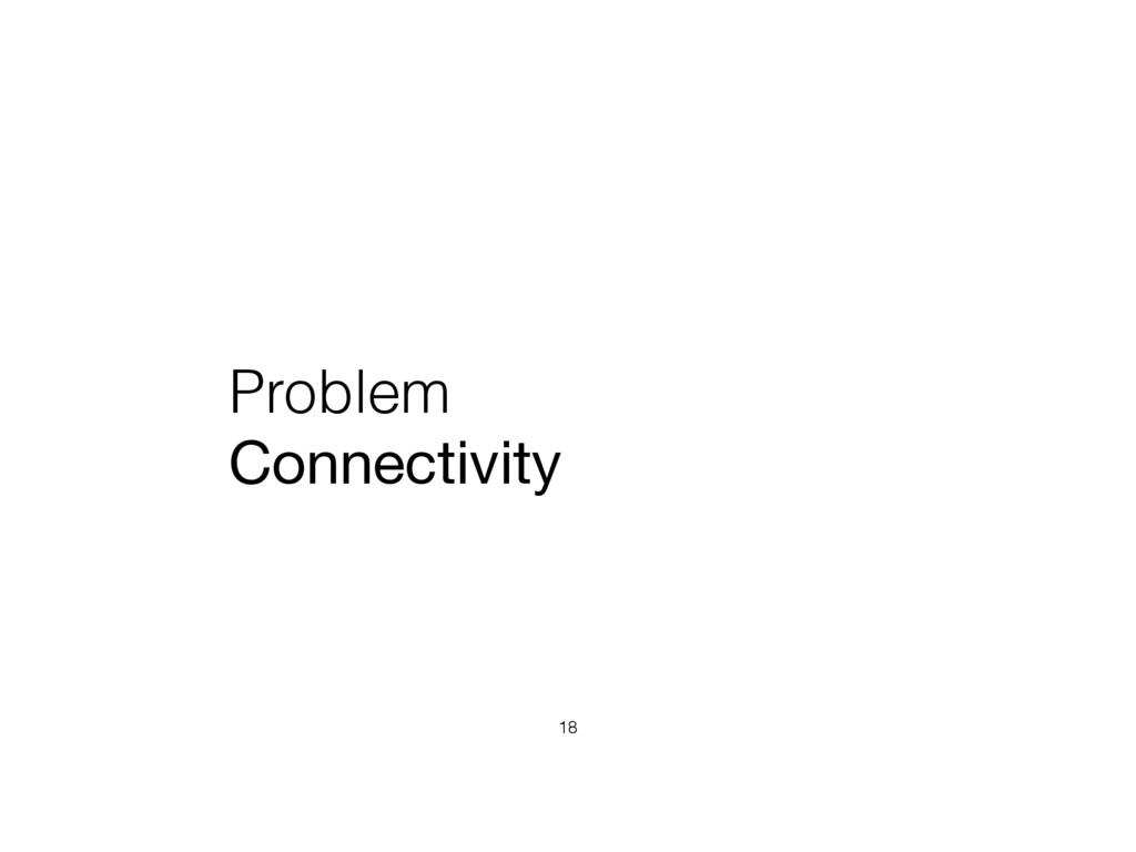 Problem Connectivity 18