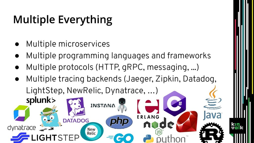 ● Multiple microservices ● Multiple programming...