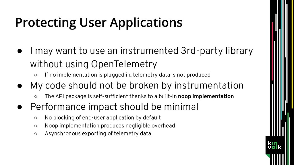 ● I may want to use an instrumented 3rd-party l...