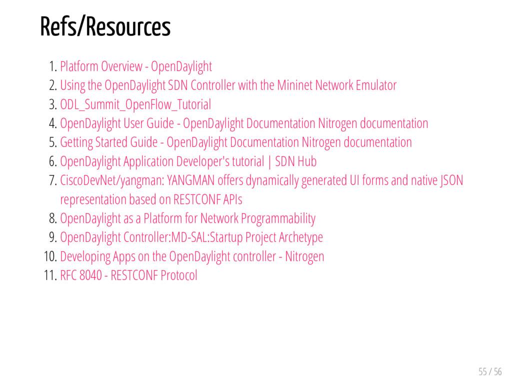Refs/Resources 1. Platform Overview - OpenDayli...