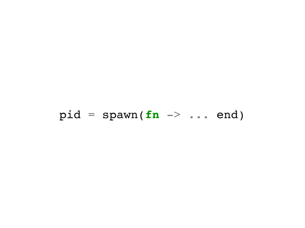 pid = spawn(fn -> ... end)