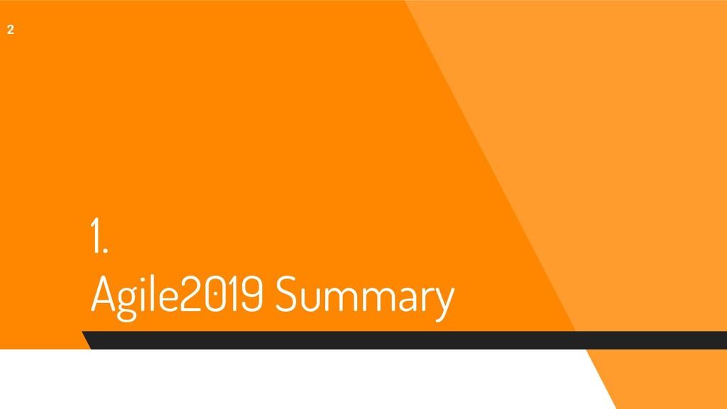 1. Agile2019 Summary 2