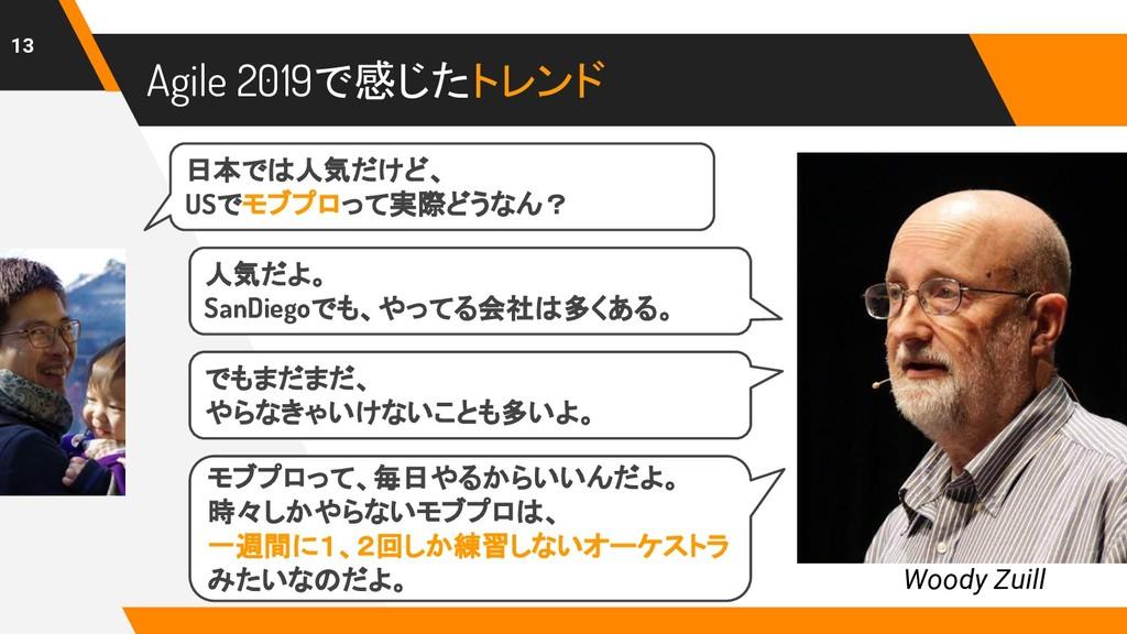 Agile 2019で感じたトレンド 13 Woody Zuill 日本では人気だけど、 US...