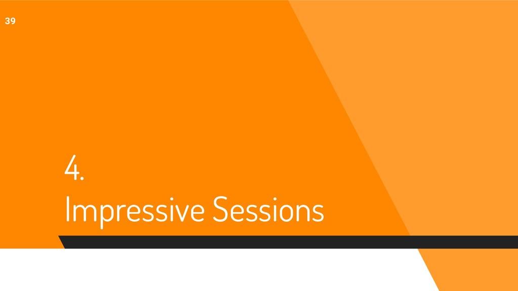 4. Impressive Sessions 39