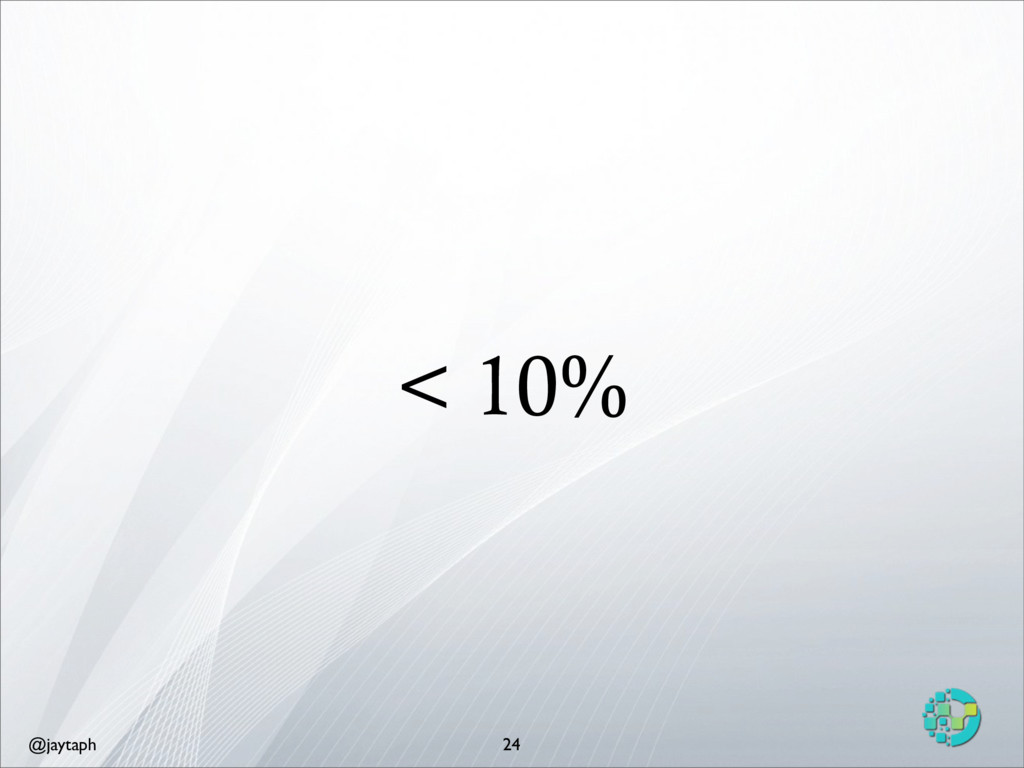 @jaytaph < 10% 24