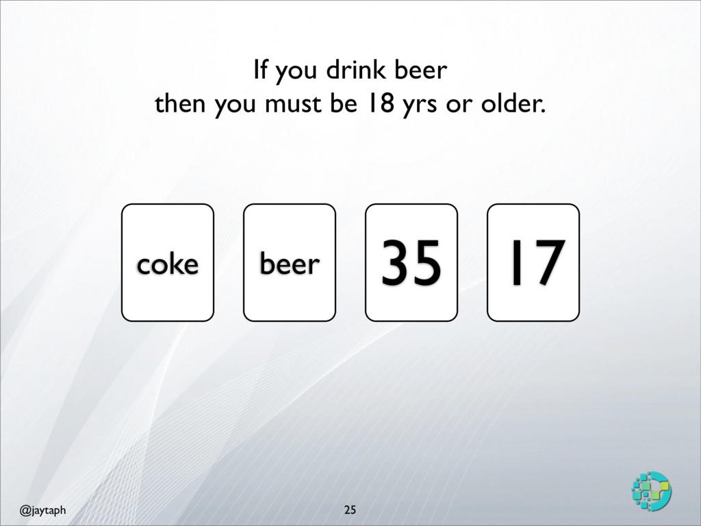 @jaytaph 25 coke beer 35 17 If you drink beer t...