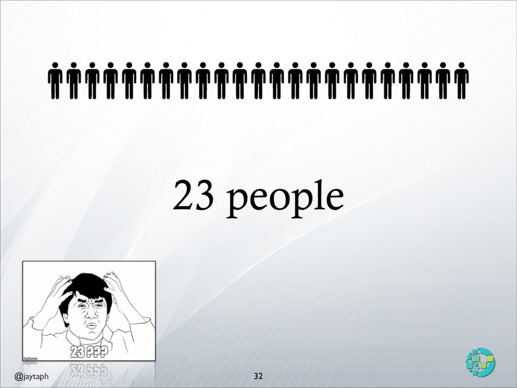 @jaytaph 23 people 32