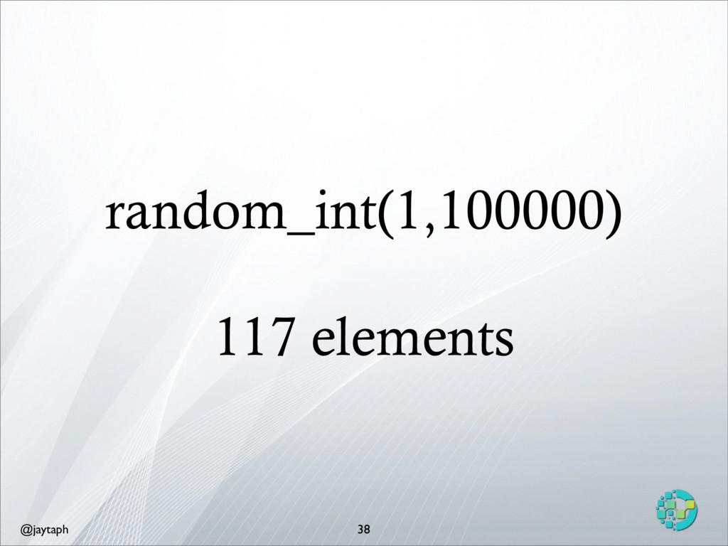 @jaytaph random_int(1,100000) 117 elements 38