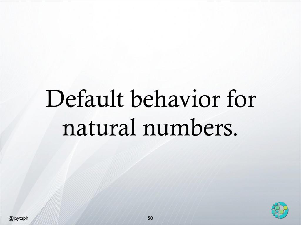 @jaytaph Default behavior for natural numbers. ...
