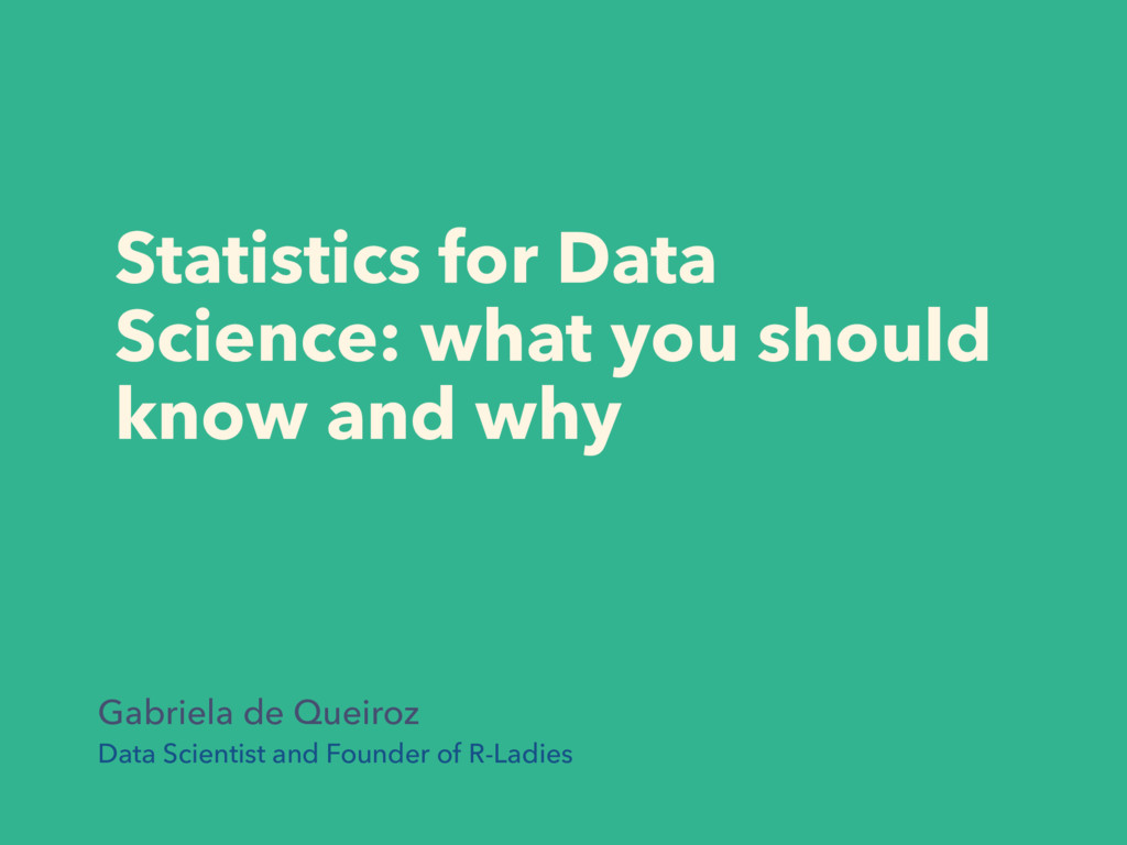 Statistics for Data Science: what you should kn...