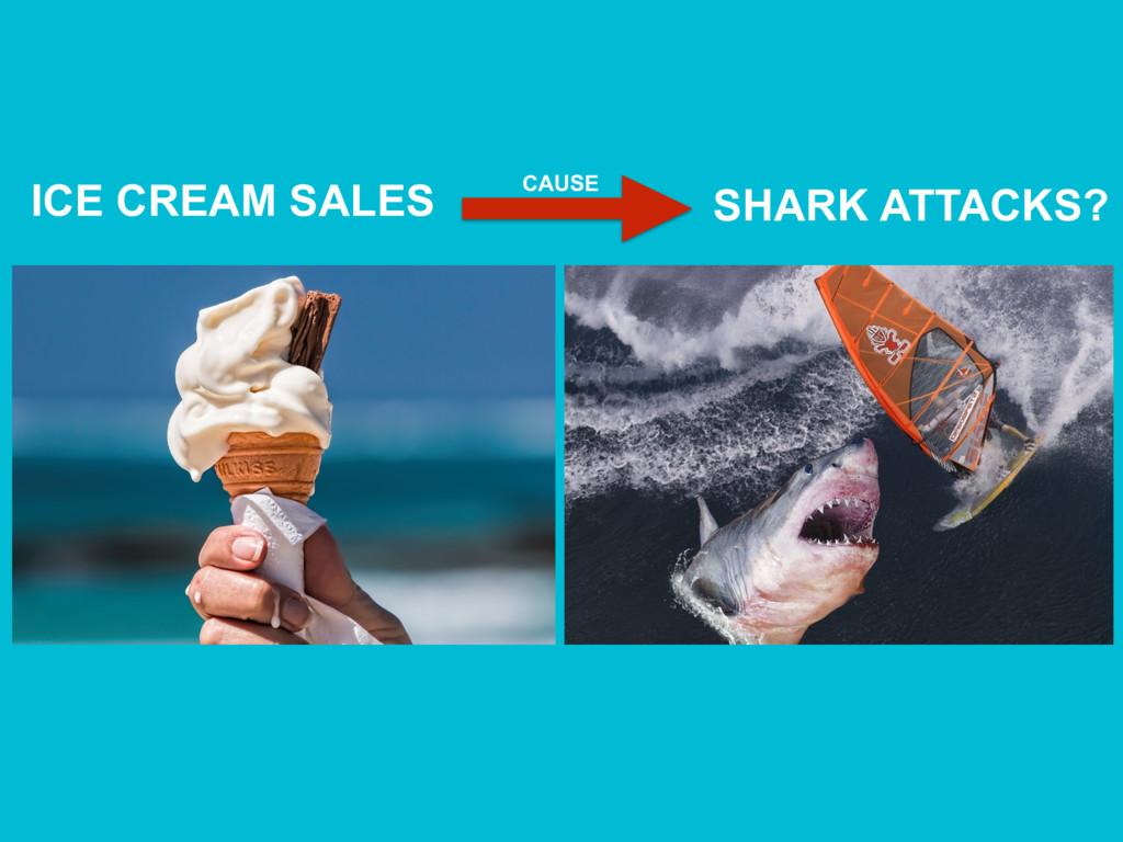 ICE CREAM SALES SHARK ATTACKS? CAUSE