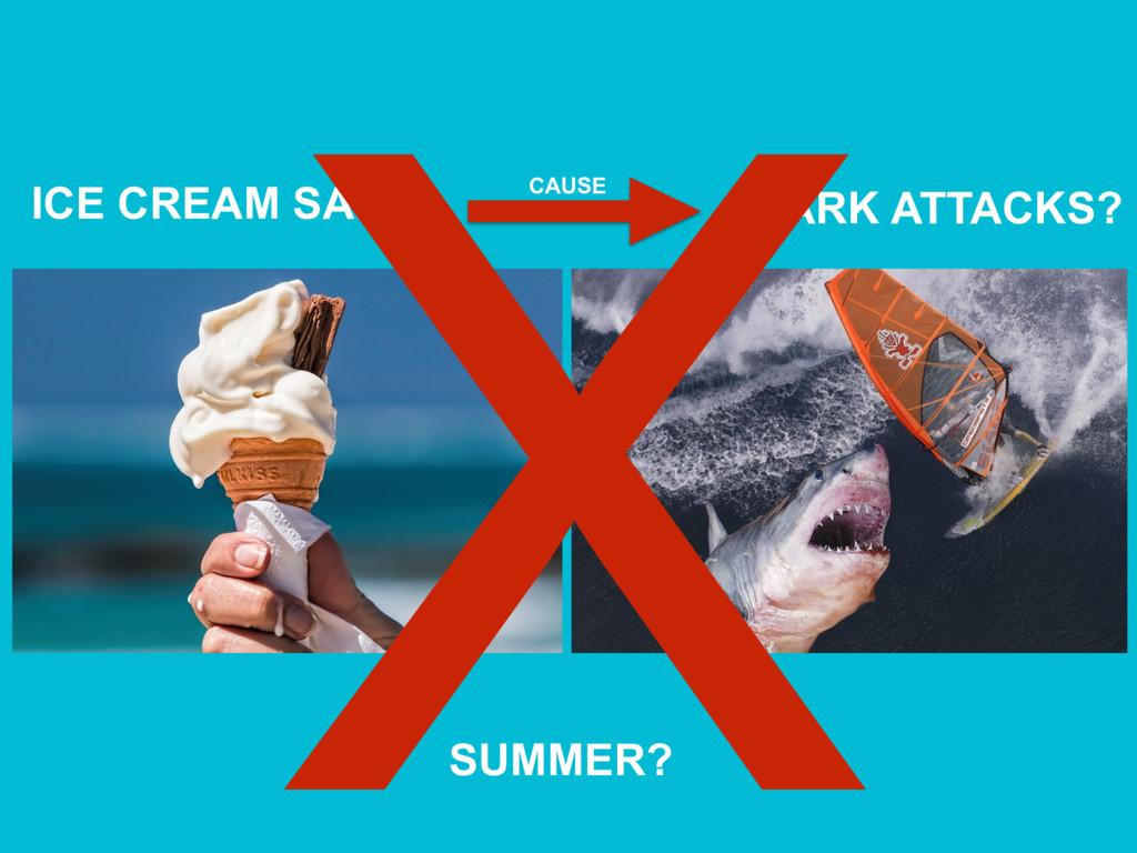 ICE CREAM SALES SHARK ATTACKS? CAUSE X SUMMER?