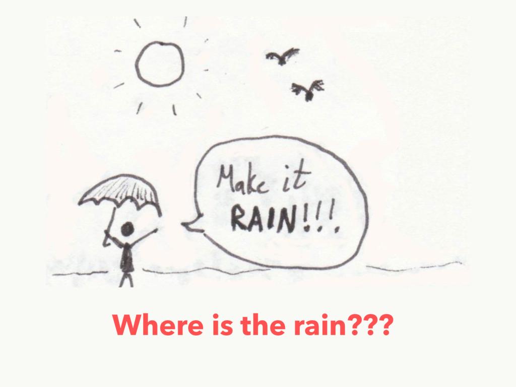 Where is the rain???